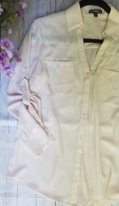 Express The Portfolio Light Pink Button Down Top M
